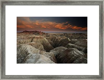Badlands Framed Print by Eric Foltz