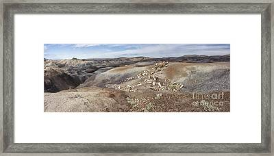 Badlands In Petrified Forest Framed Print by Melany Sarafis