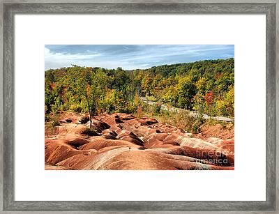 Badlands Framed Print by Joe  Ng