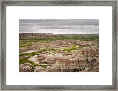 Framed Print featuring the photograph Badlands by John Gilbert