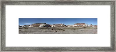 Badlands Framed Print by Kenneth Hadlock