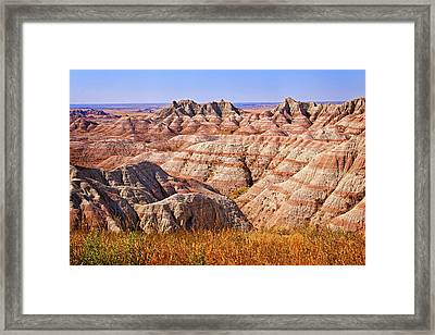 Framed Print featuring the photograph Badlands by Mary Jo Allen