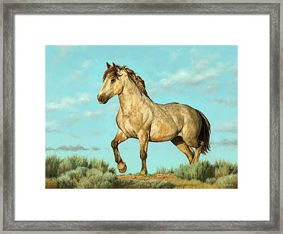 Badlands Mustang Framed Print