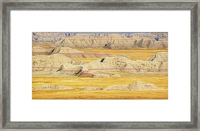 Framed Print featuring the photograph Badlands Mystique by Al Swasey