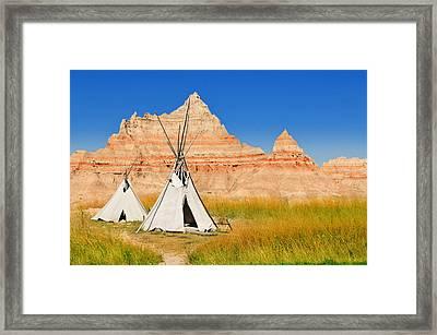 Badlands National Park Framed Print by Edwin Verin