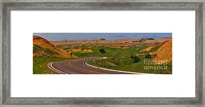 Badlands National Park Scenic Drive Framed Print by Adam Jewell
