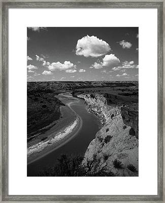 Framed Print featuring the photograph Badlands, North Dakota by Art Shimamura