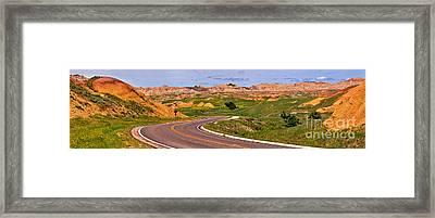 Badlands Park Loop Framed Print