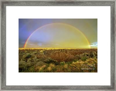 Badlands Rainbow Promise Framed Print