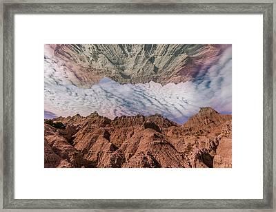Badlands Reflection.... Framed Print