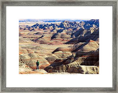 Badlands, South Dakota Framed Print