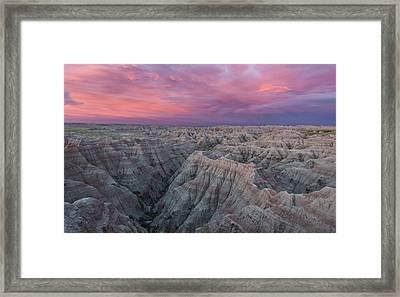 Badlands Sunrise Framed Print