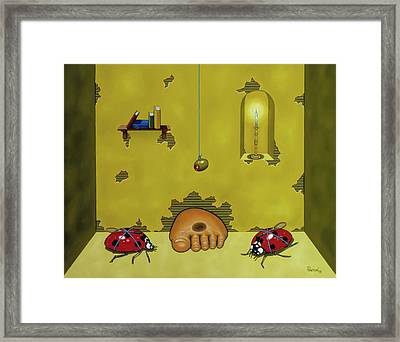 Badminton By Candlelight Framed Print