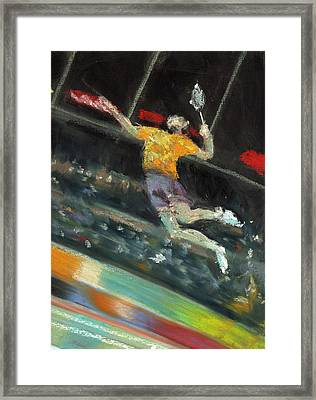 Badminton Player Framed Print by Paul Mitchell
