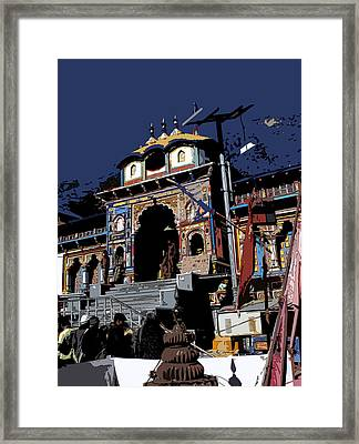 Badrinath Temple 1 Framed Print by Padamvir Singh