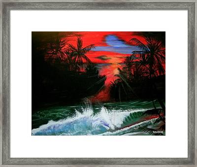 Badsailer Framed Print