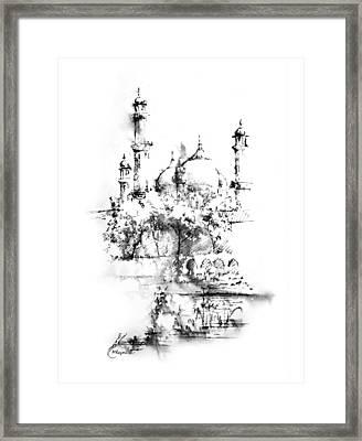 Badshahi Mosque Lahore Framed Print by MKazmi Syed