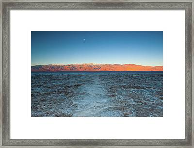 Framed Print featuring the photograph Badwater  by Catherine Lau
