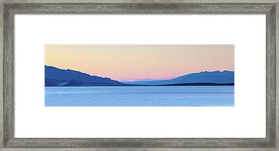 Framed Print featuring the photograph Badwater - Death Valley by Peter Tellone