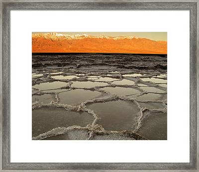 Badwater Sunrise-death Valley Framed Print