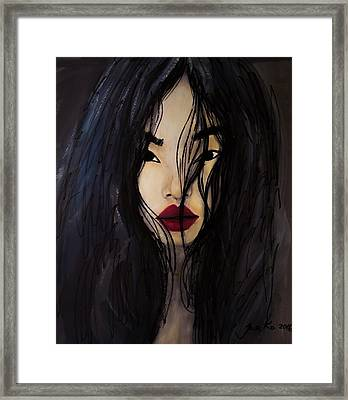Bae Yoon Young At Backstage Framed Print