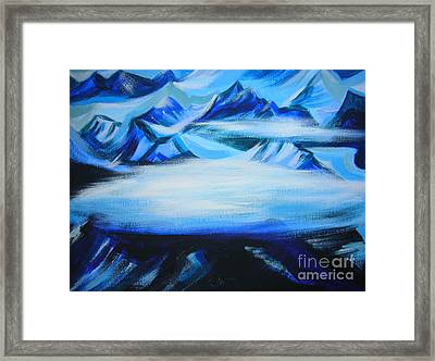 Framed Print featuring the painting Baffin Island by Anna  Duyunova