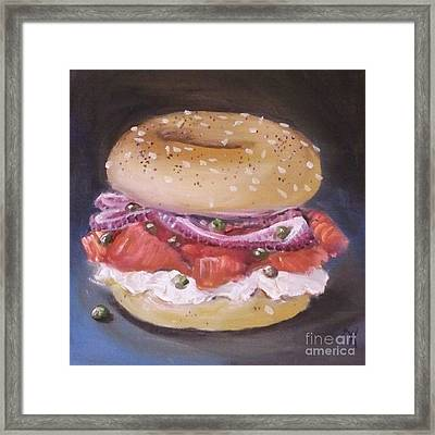 Bagel And Lox Framed Print by Kristine Kainer