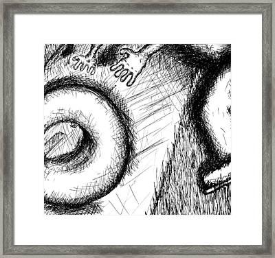 Bagel Chaser Framed Print by Jera Sky
