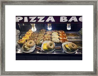 Bagel Sandwiches Framed Print by Carlos Diaz