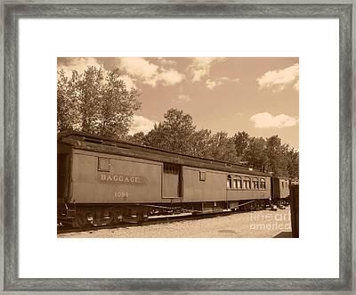 Baggage Car Framed Print by Charles Robinson