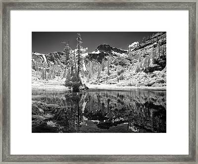 Bagley Lake At Sunrise Framed Print