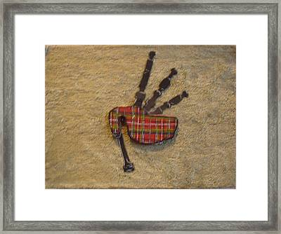 Bagpipes Balsa Framed Print by Paul Knotter
