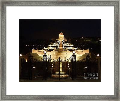 Bahai Shrine At Haifa - Israel Framed Print by Arik Baltinester