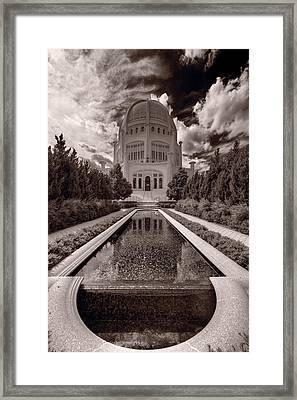 Bahai Temple Reflecting Pool Framed Print