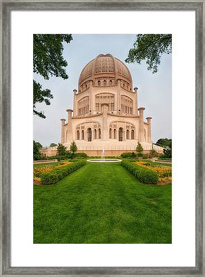 Framed Print featuring the photograph Baha'i Temple - Wilmette - Illinois - Veritcal by Photography  By Sai