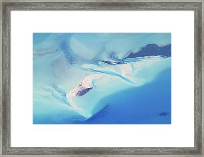 Framed Print featuring the photograph Bahama Banks Aerial Seascape by Roupen  Baker