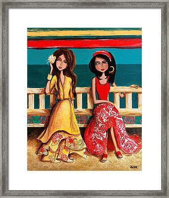 Bahama Breeze Framed Print by Debbie Horton