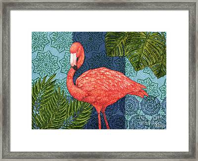 Bahama Flamingo - Horizontal Framed Print by Paul Brent