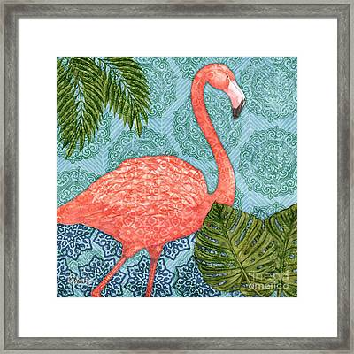 Bahama Flamingo I Framed Print by Paul Brent