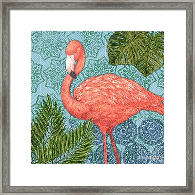 Bahama Flamingo II Framed Print by Paul Brent