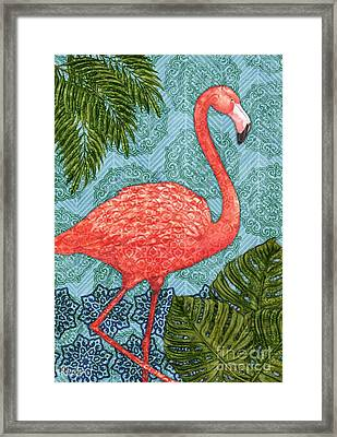 Bahama Flamingo - Vertical Framed Print