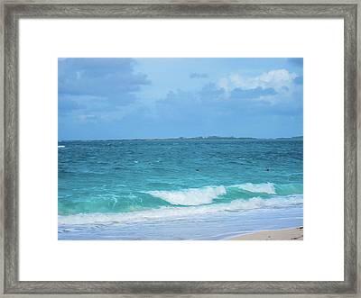 Bahama Waves Framed Print by Rick Grossman