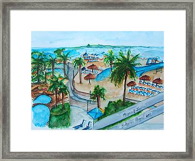 Bahamas Balcony Framed Print