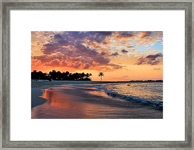 Bahamas Sunset Framed Print by Nicole Huebscher