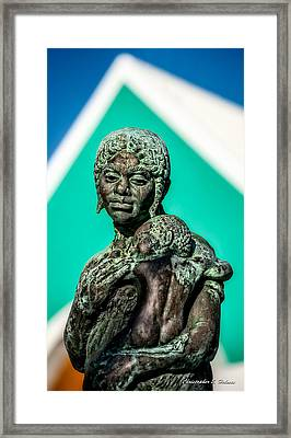 Bahamian Mother And Child Framed Print by Christopher Holmes