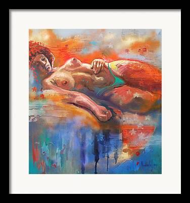 Color Nudes Framed Prints