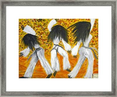 Bailar N Los Blanco  Framed Print by BJ Abrams