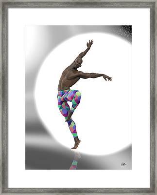Bailarin Con Foco Framed Print by Joaquin Abella