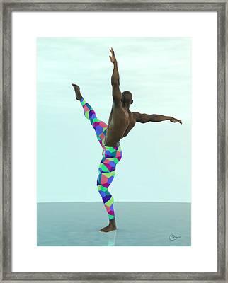 Bailarin Multicolor Framed Print by Joaquin Abella