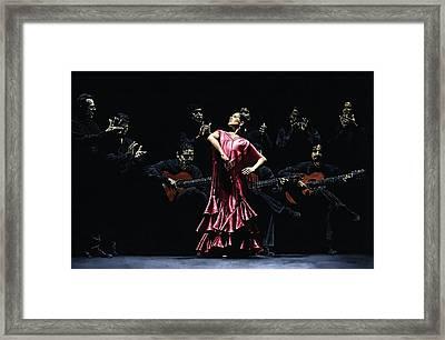 Bailarina Orgullosa Del Flamenco Framed Print by Richard Young